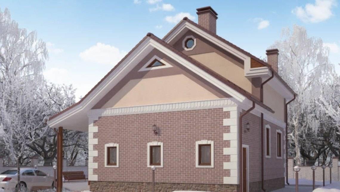 Проект небольшого загородного двухэтажного дома 130 m²
