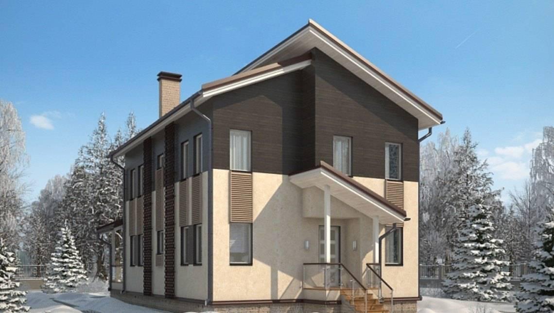 Архитектурный проект 2х этажного небольшого дома 190 m²