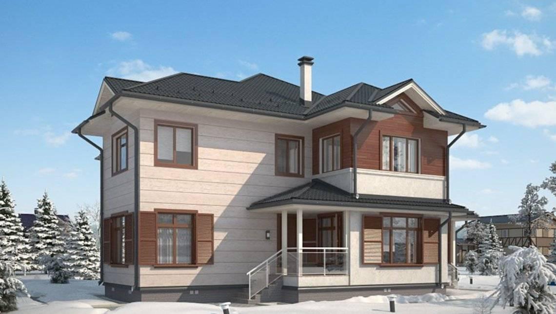 Архитектурный проект простого классического жилого дома