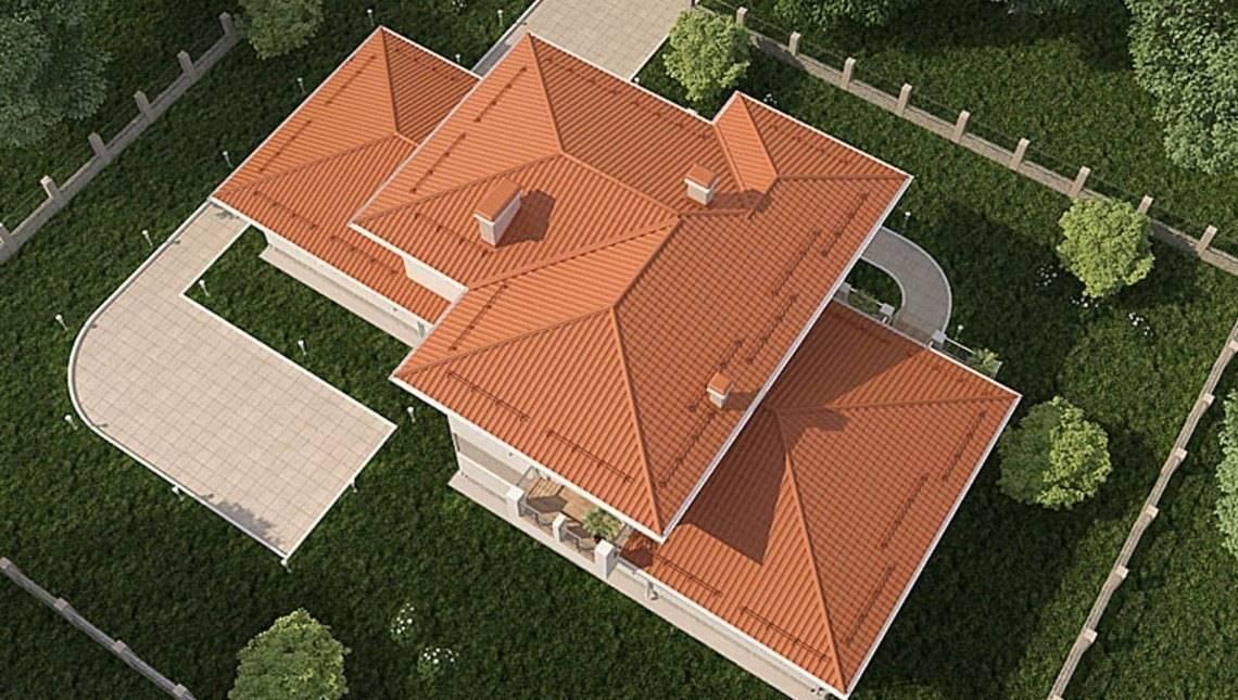 Архитектурный проект шикарного загородного жилого особняка