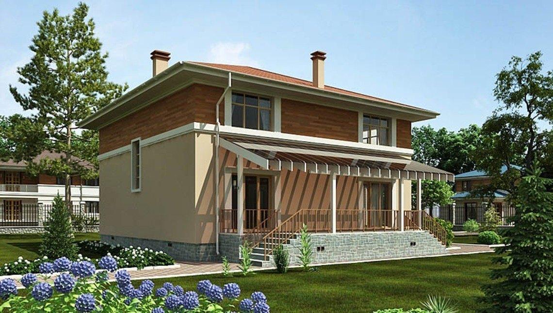 Архитектурный проект квадратного стильного дома
