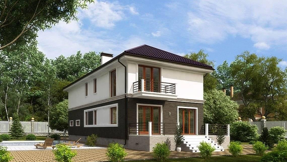 Архитектурный проект двухэтажного дома для узкого участка