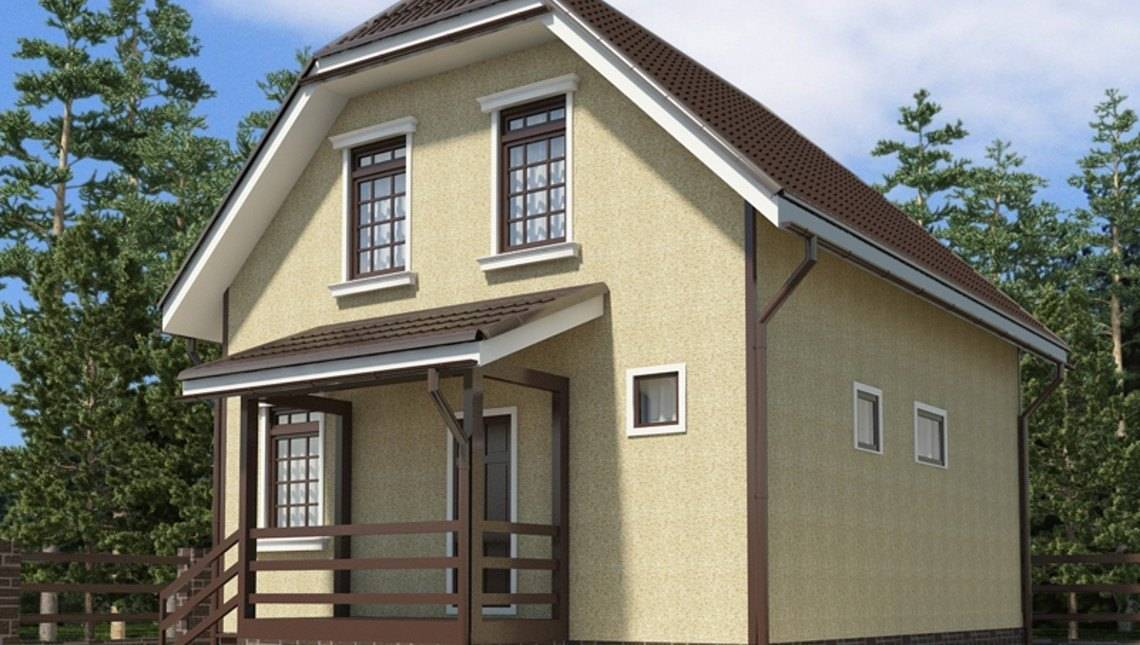 Архитектурный проект двухэтажного небольшого дома 100 m²