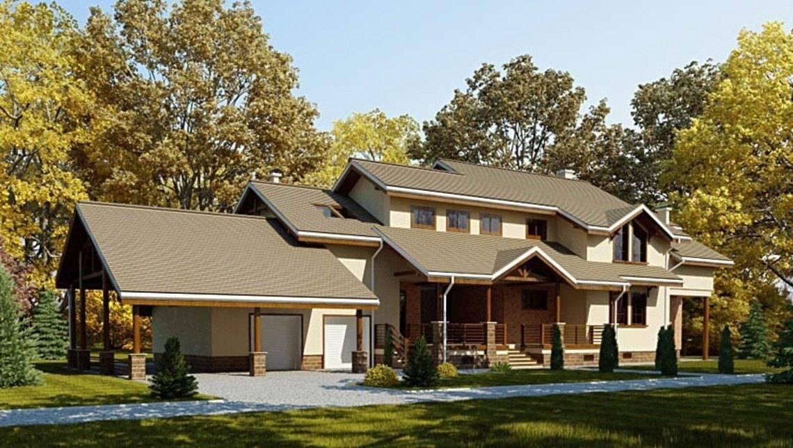 Архитектурный проект огромного загородного дома