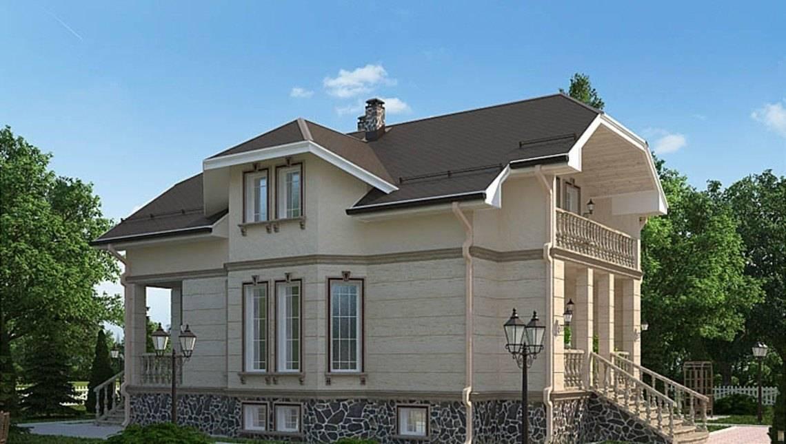 Проект жилого загородного дома в аристократическом стиле