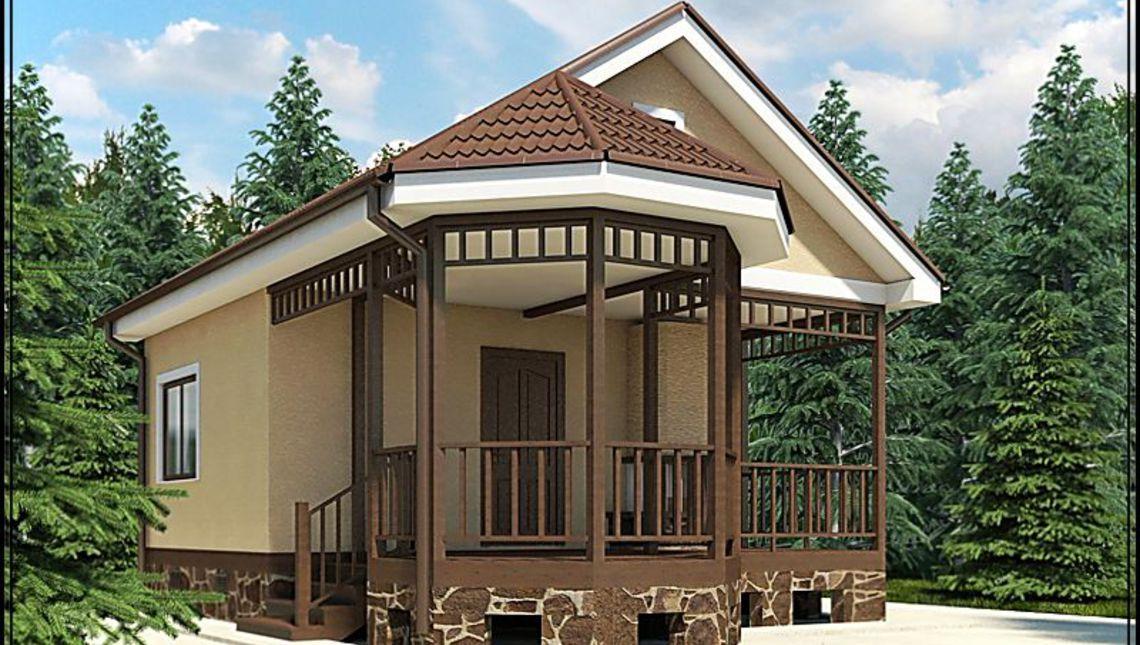 Архитектурный проект бани с крыльцом