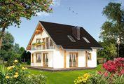 Проект красивой загородной усадьбы с площадью 120 m²