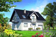 Проект загородного дома с мансардой площадью до 150 m²