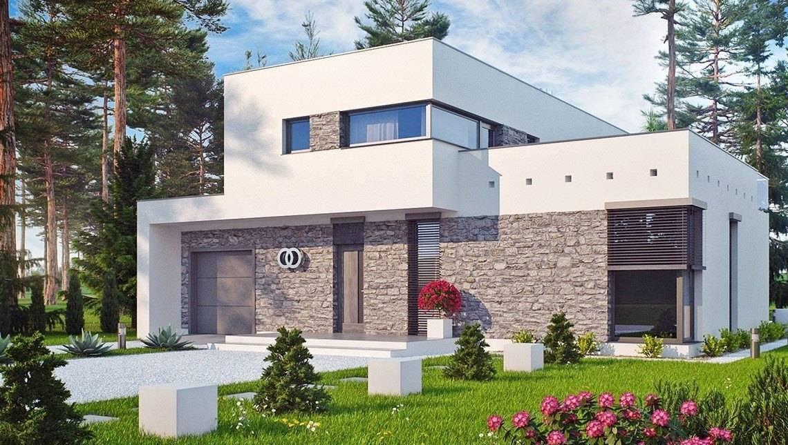Проект большого особняка в стиле модерн