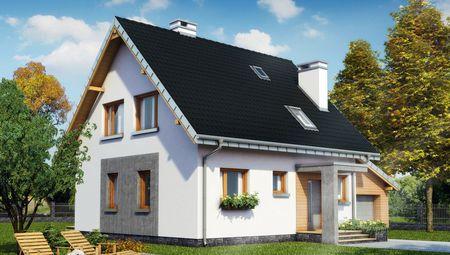 Красивый загородный особняк с мансардой с площадью 120 m²