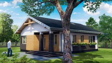 Дачный домик с тремя спальнями для небольшой семьи