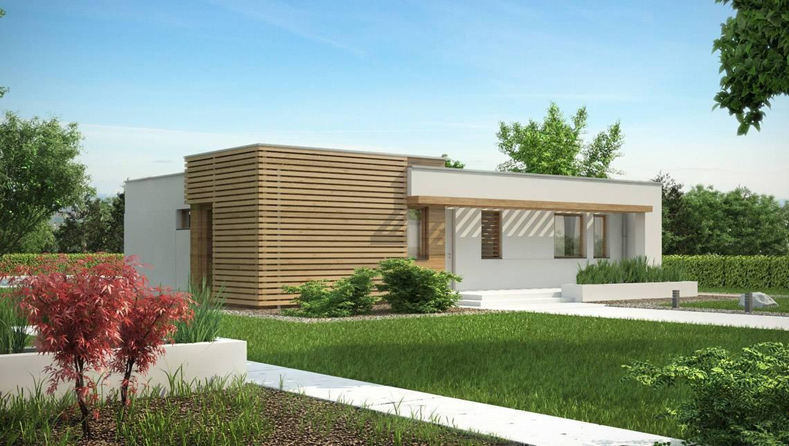 Проект одноэтажного коттеджа в стиле бунгало
