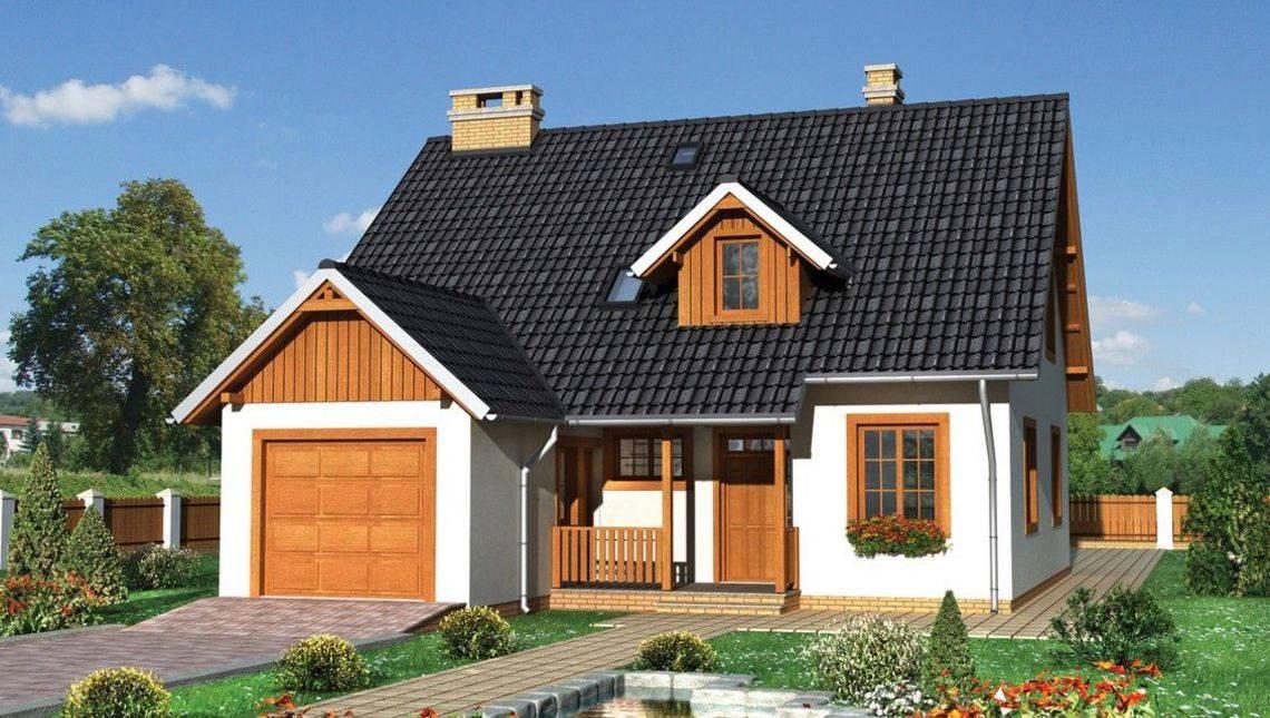 Загородный дом приятного вида с гаражом