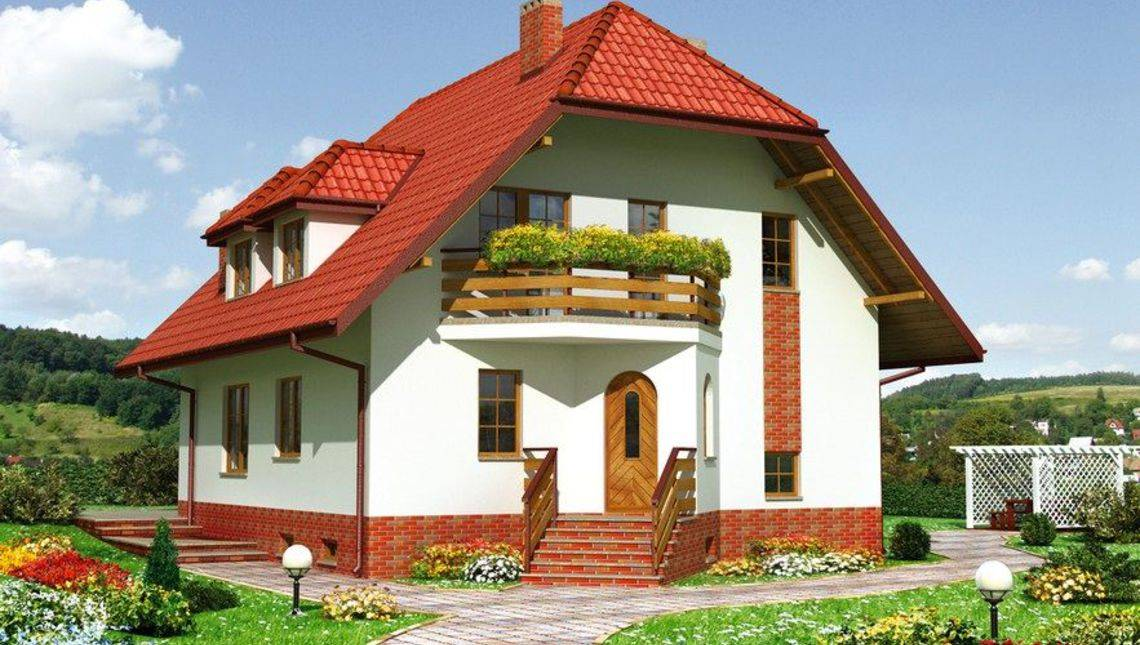 Архитектурный проект неповторимого загородного коттеджа с просторными спальнями