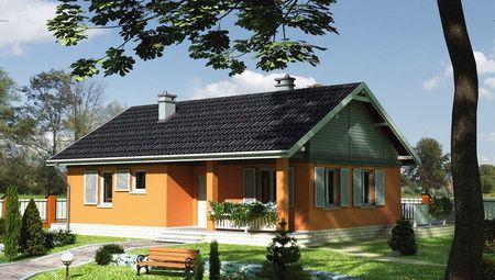 Проект стильного загородного коттеджа с тремя комнатами