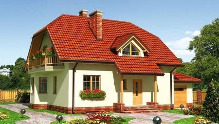 Проект красивого загородного особняка с площадью 200 m²