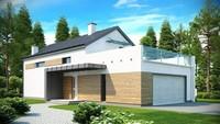 Проект современного дома простой планировки