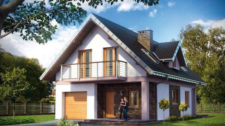 Красивый загородный дом с двумя этажами и пятью комнатами