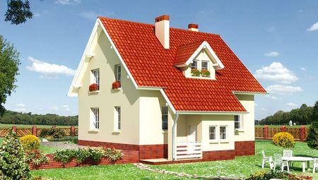 Проект красивого особняка с площадью более 150 m²