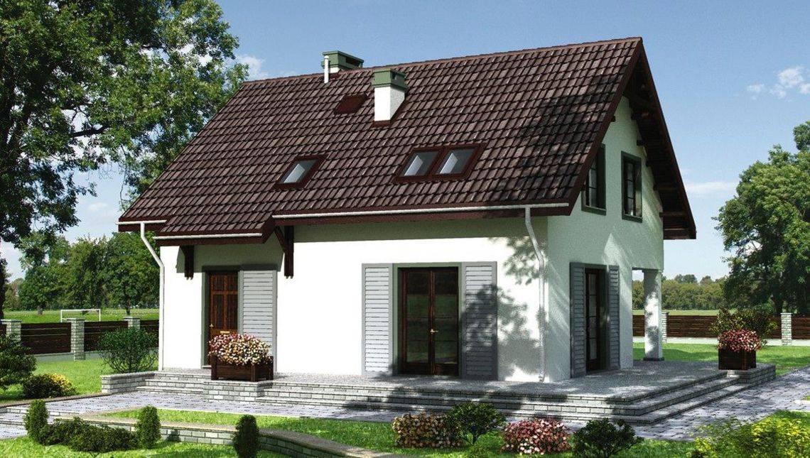 Стильный и компактный загородный коттедж с площадью 140 m²
