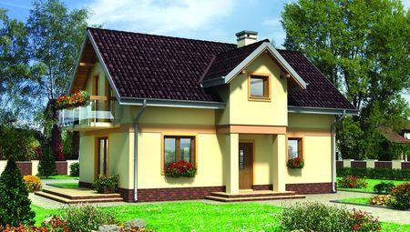 Небольшой загородный дом с гармоничным дизайном