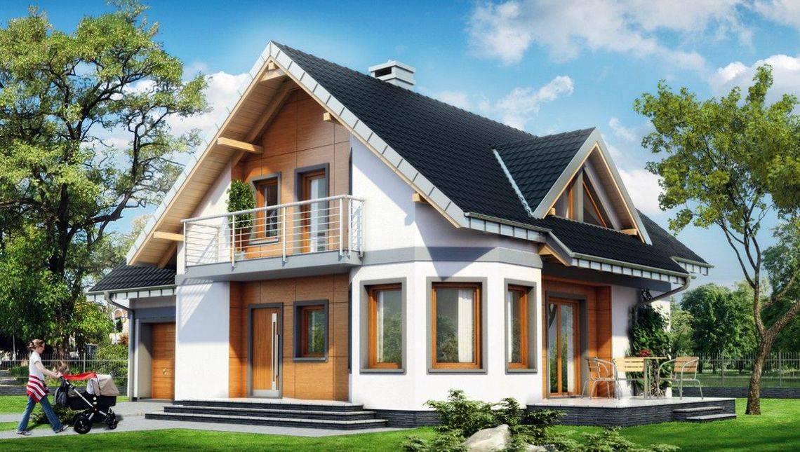 Большой загородный дом с террасой и гаражом