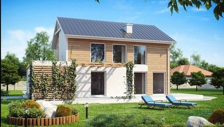 Проект двухэтажного экономичного дома