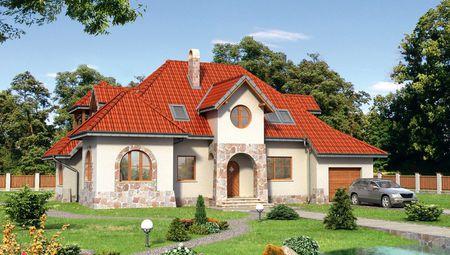 Интересное строение с крышей сложной формы