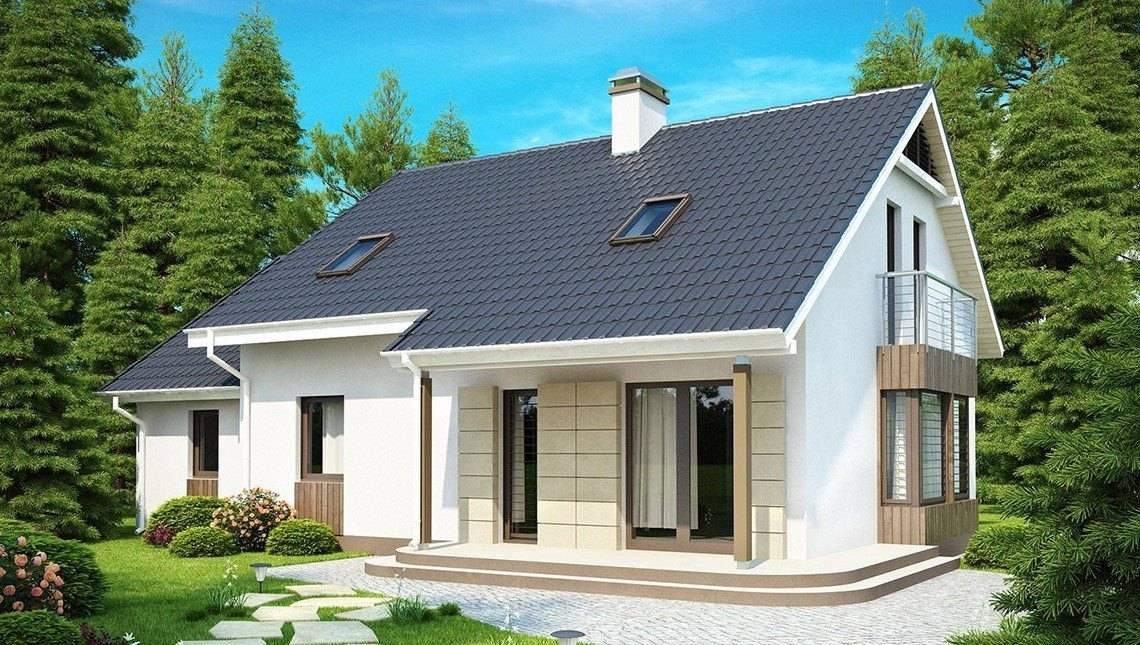 Проект экономичного дома с дополнительной спальней