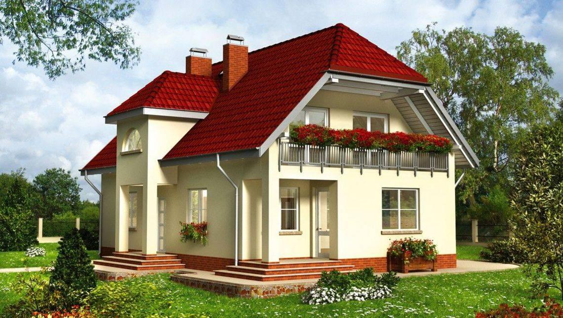 Привлекательное строение на два этажа с просторными балконами