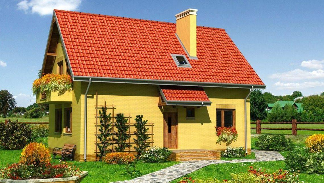Красивое загородное строение с цокольным этажом