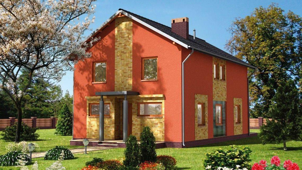 Яркий жилой дом площадью 150 м2