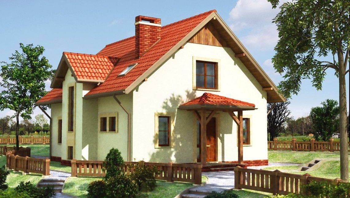 Архитектурный проект дома с мансардой более 150 m²
