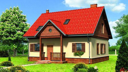 Красивый дом со ставнями на окнах