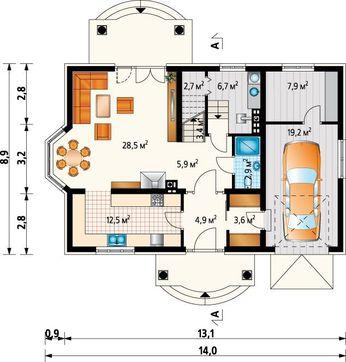 Шикарный жилой дом с колоннами