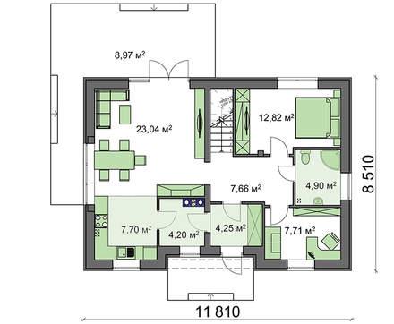 Проект энергосберегающего классического дома с мансардой