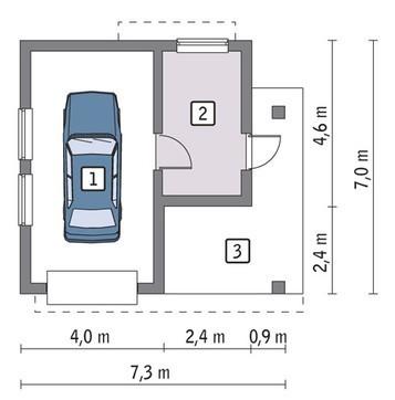 Интересный гараж на 1 авто