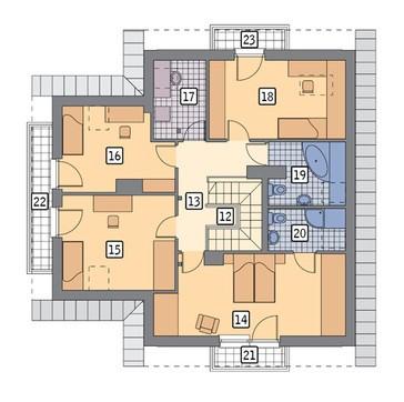 Двухэтажный особняк с камином