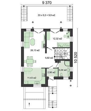 Видный дом с цокольным этажом