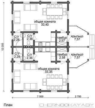 Современный коттедж для торжеств на два зала