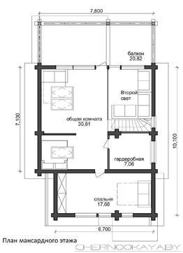 Изящный загородный коттедж с кухней-гостиной со вторым светом