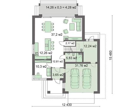 Современный жилой дом площадью 230 м2