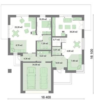 Стильный загородный особняк с пятью спальнями