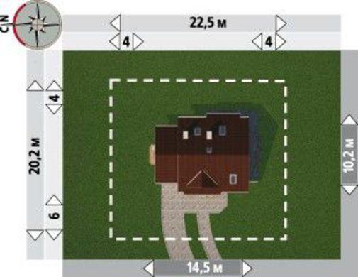 Коттедж более 150 m² с угловым эркером