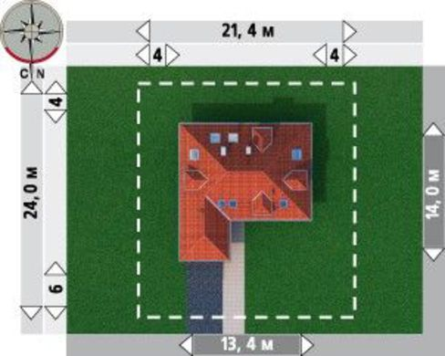 Комфортабельный коттедж с гаражом и шестью комнатами