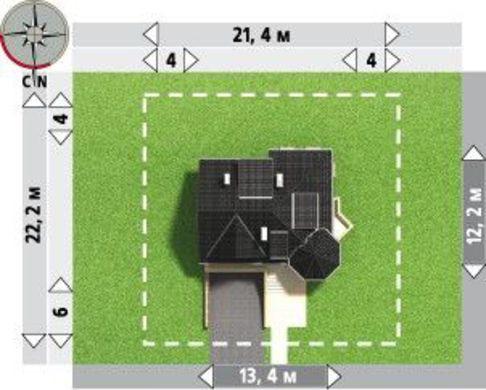 Выделяющийся проект дома с гаражом на два авто в цокольном этаже