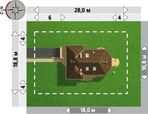 Проект шикарного особняка с полукруглой гостиной