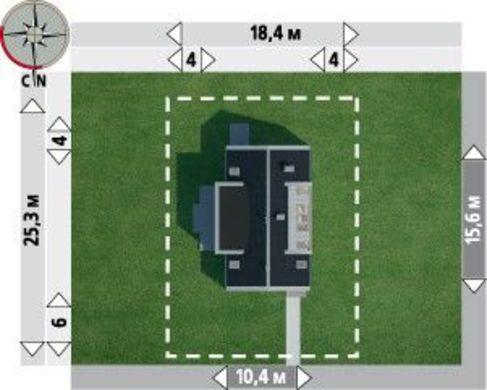 Интересный проект двухэтажного коттеджа с четырьмя спальнями