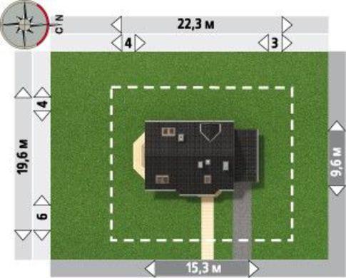 Проект двухэтажного коттеджа с кухней в зоне эркера