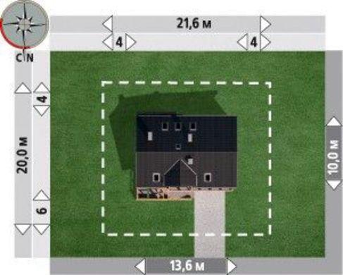 Проект дома с гаражом на два авто в цокольном этаже